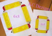 Square Pencil Monogram Applique