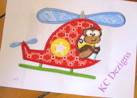 Safari Pilot Monkey Applique