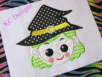 Witchy Girl Applique