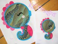 Cute Seahorse Applique