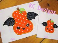 Bat Pumpkin Applique