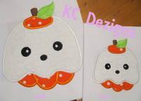 Ghost Pumpkin Applique
