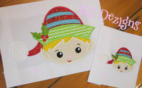 865d4775aab94 Cute Boy Elf Face Machine Applique Embroidery Design