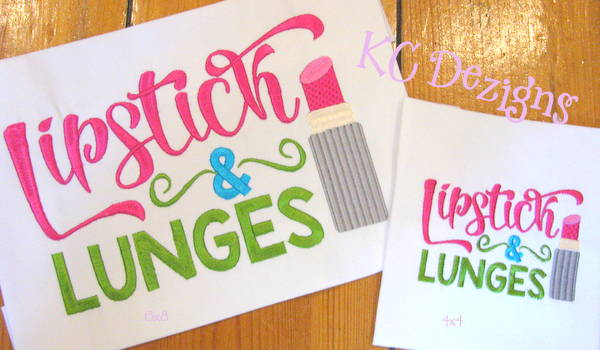 Lipstick & Lunges Embroidery