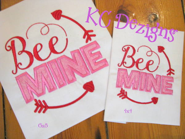 Bee Mine Applique Embroidery