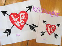 Heart With Love and Arrows Applique Embroidery