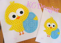 Baby Chick With Easter Egg Applique