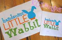 Handsome Little Wabbit Embroidery