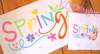 Spring With Flowers Embroidery