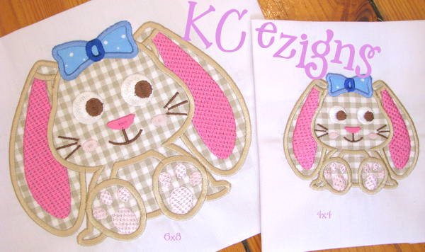 Bunny With Bow Applique