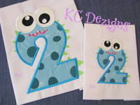 Silly Monster Number 2 Applique