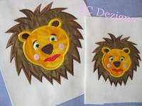 Lion Face Machine Applique