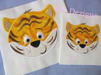 Tiger Face 01 Machine Applique