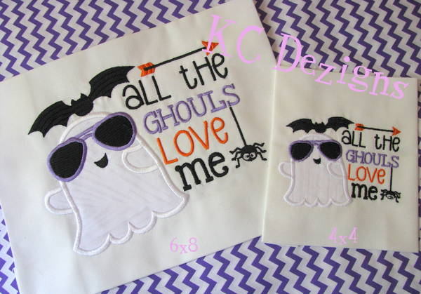 All The Ghouls Love Me Applique