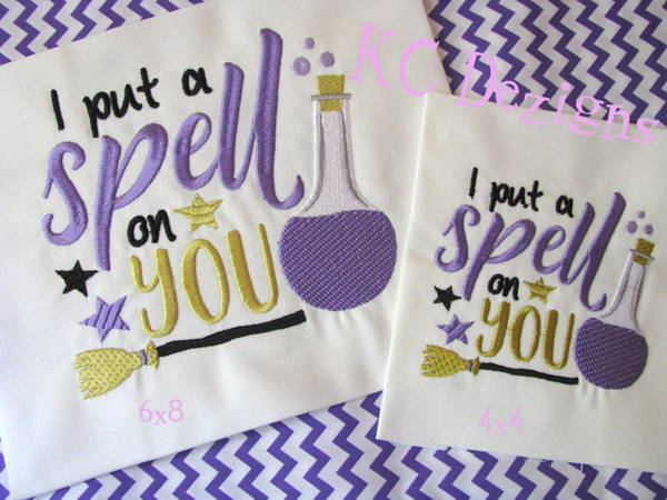 I Put A Spell On You Embroidery