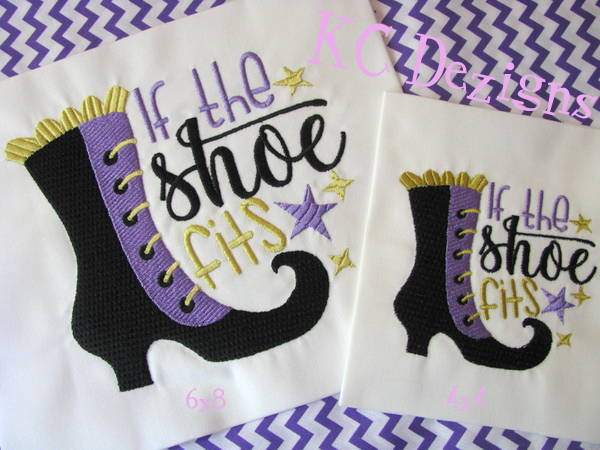 If The Shoe Fits Embroidery