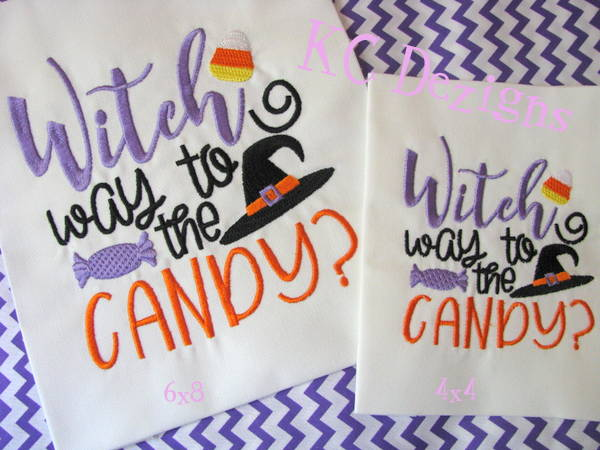 Witch Way To The Candy Embroidery