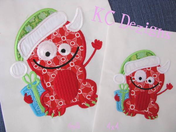 Christmas Monster 04 Machine Applique