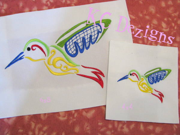 Outline Hummingbird 01 Embroidery