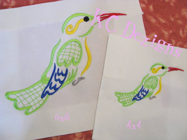 Outline Hummingbird 02 Embroidery
