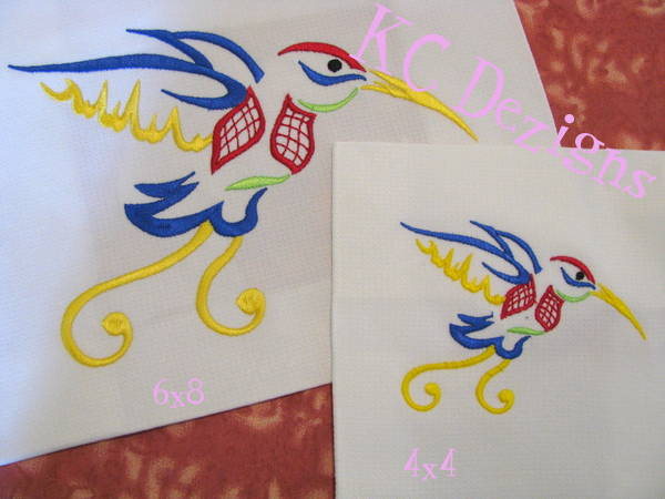 Outline Hummingbird 03 Embroidery