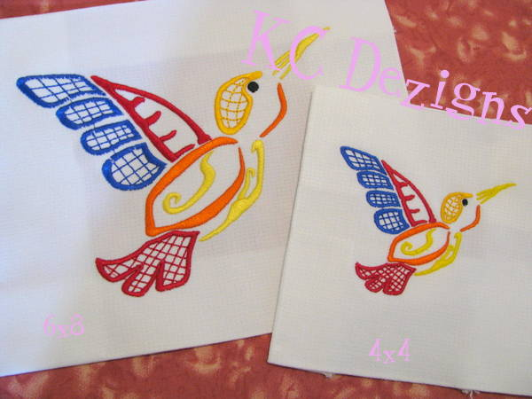 Outline Hummingbird 04 Embroidery