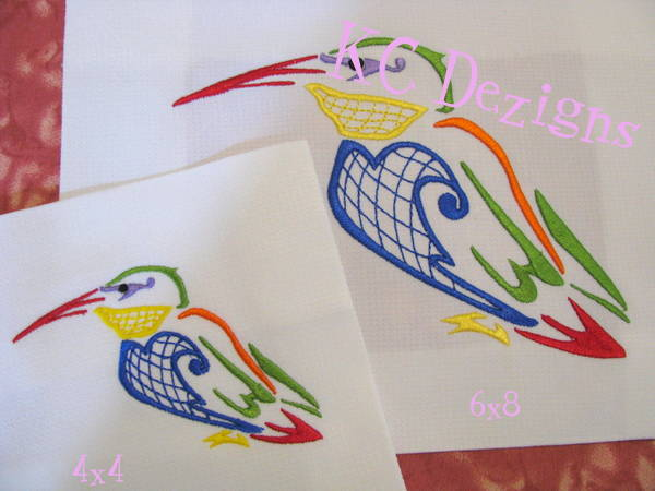 Outline Hummingbird 07 Embroidery