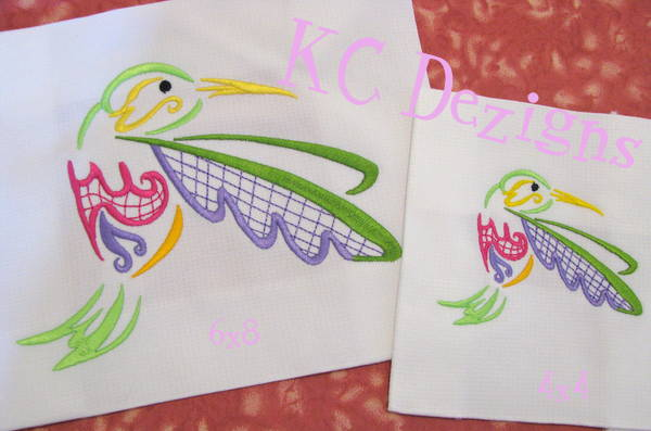 Outline Hummingbird 10 Embroidery