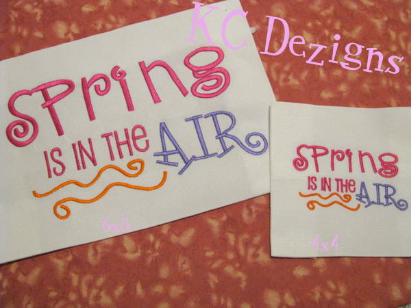 Spring Is In The Air 1 Machine Embroidery