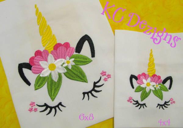 #1587 Unicorn Face 03 Embroidery