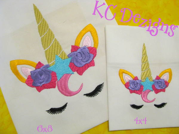 #1589 Unicorn Face 05 Embroidery