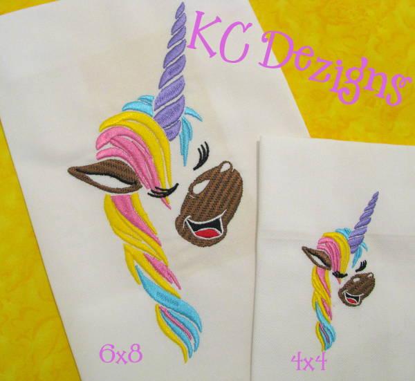 Unicorn Pony Face Embroidery