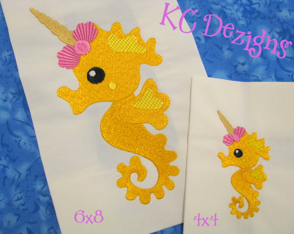 Seahorse Unicorn Embroidery