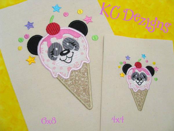 Ice Cream Panda Applique