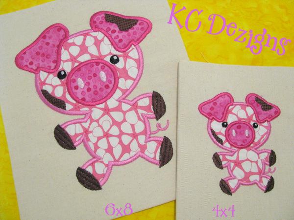 Cute Pig Applique
