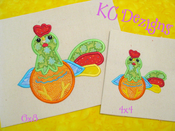 Cute Rooster Applique
