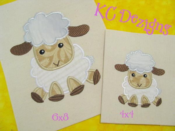Cute Sheep Applique