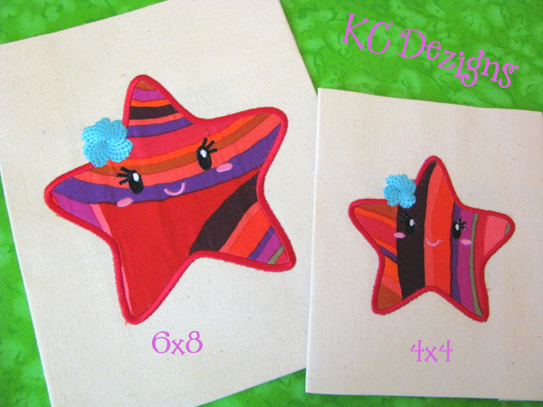 Baby Starfish With Flower Applique