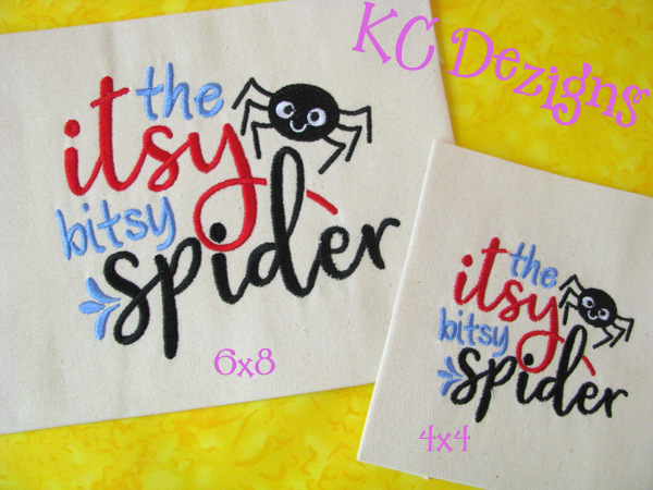 Itsy Bitsy Spider Embroidery