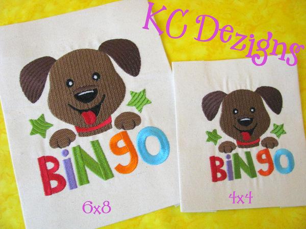 Bingo Dog Embroidery