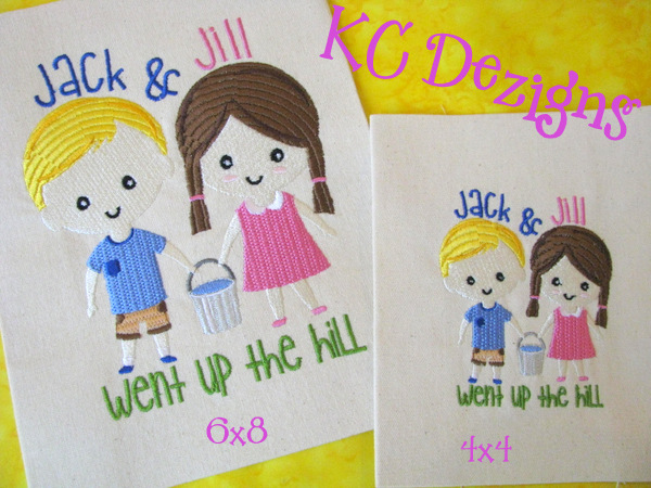 Jack And Jill Went Up The Hill Embroidery