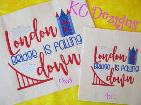 London Bridge Is Falling Down Embroidery