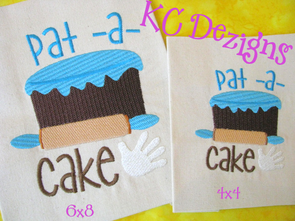 Pat A Cake Embroidery
