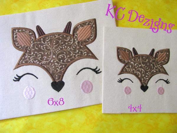 Baby Deer Face Applique