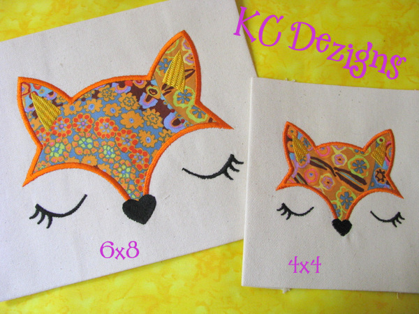 Baby Fox Face Applique