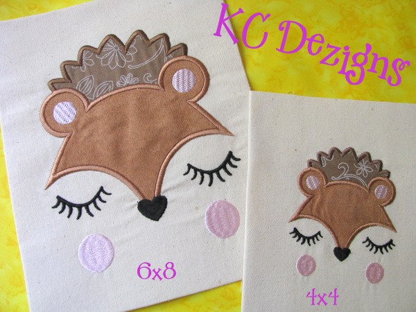 Baby Hedgehog Face Applique