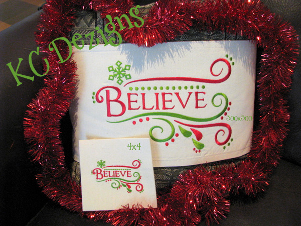Believe Embroidery