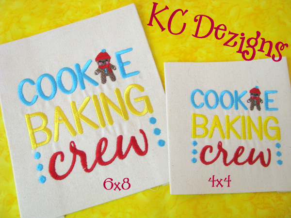 Cookie Baking Crew Embroidery