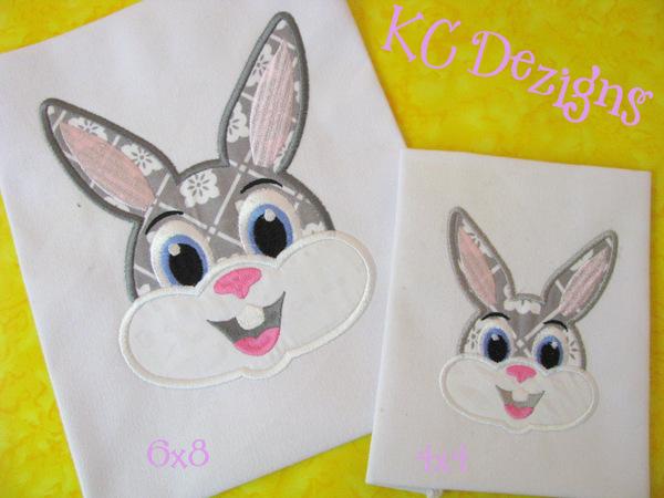 Boy Rabbit Face Applique