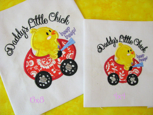 Daddy's Little Chick Applique